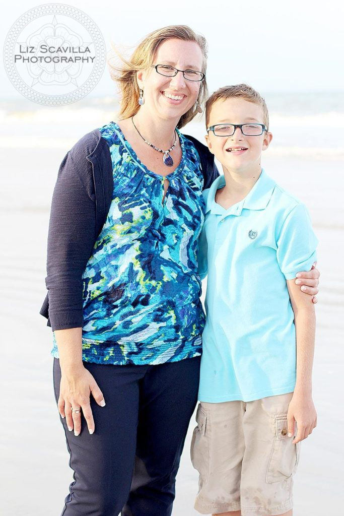 Mother son photo at the beach