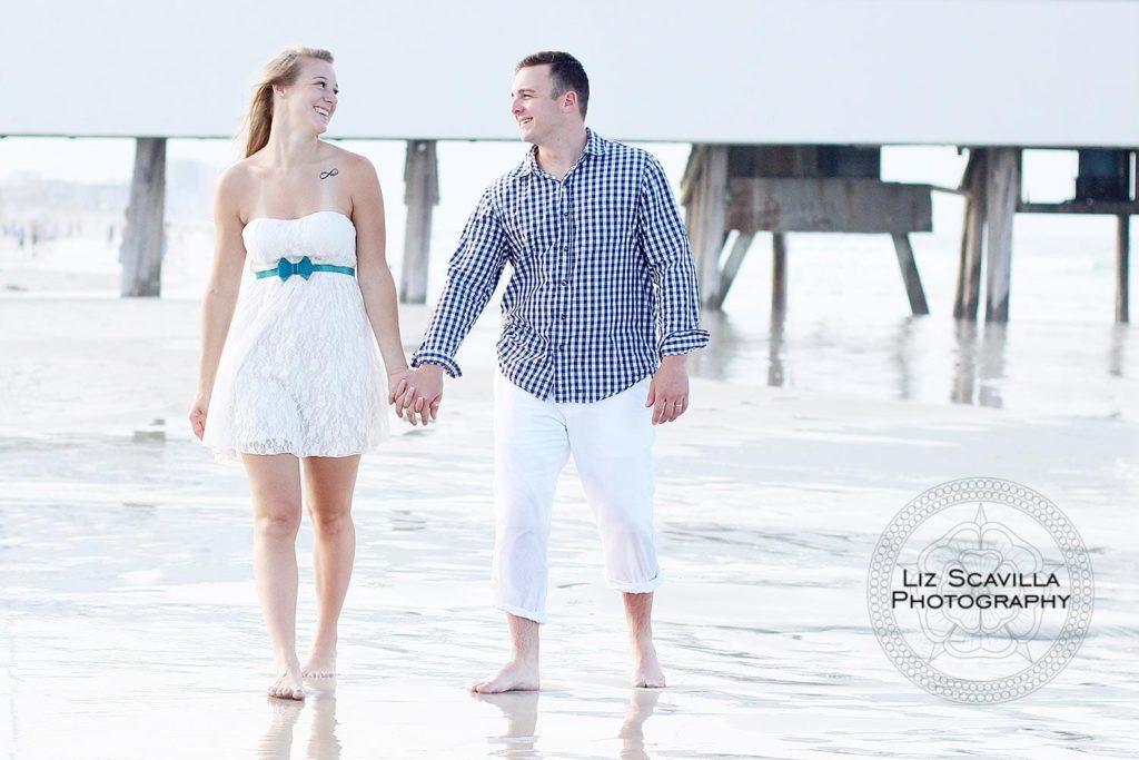 Couple Walking at Pier