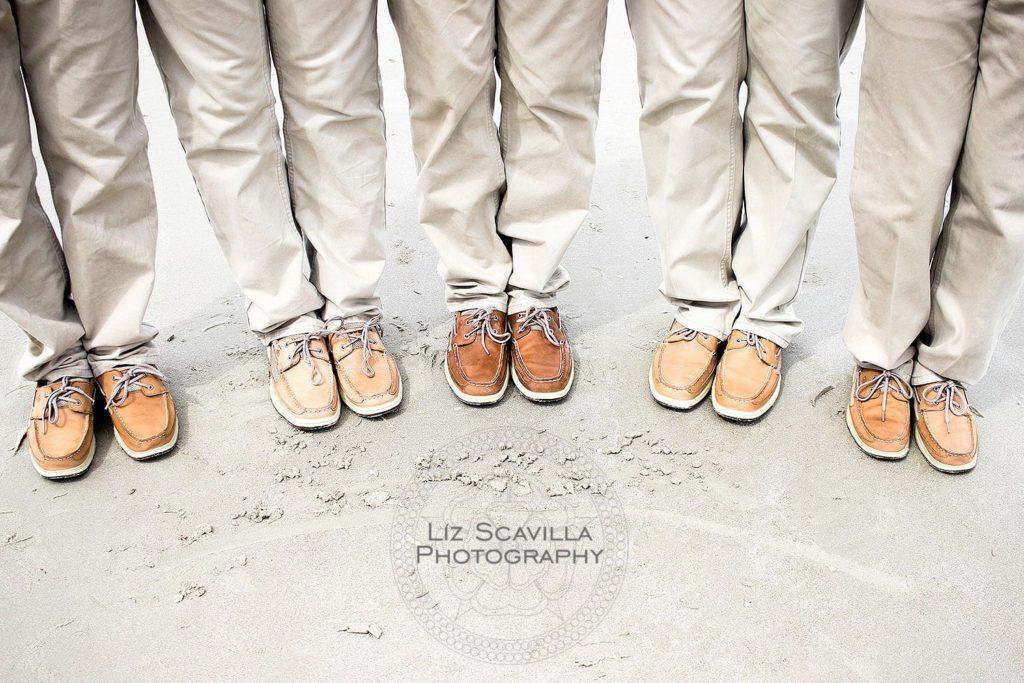 Khaki Groomsmen Boat Shoes