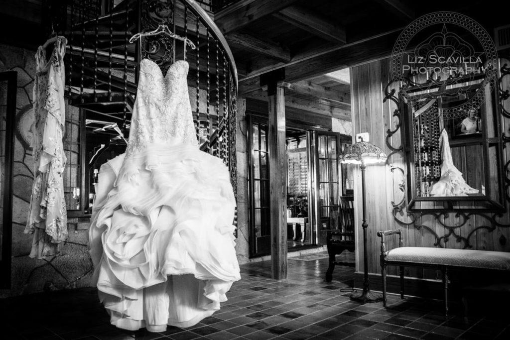 Black & White Wedding Dress Hanging