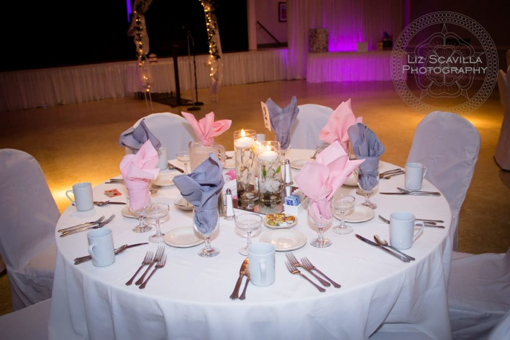 Pink & Periwinkle Wedding Tablescape