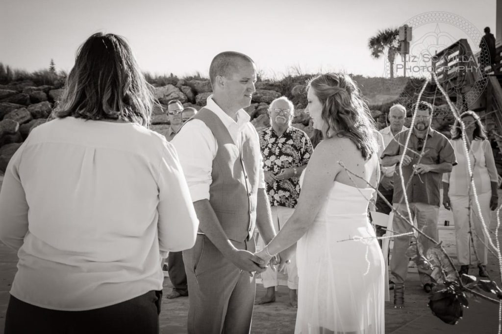 Black & White Beach Ceremony