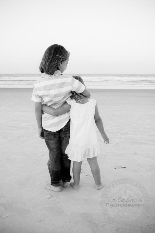 Brother and Sister on Beach