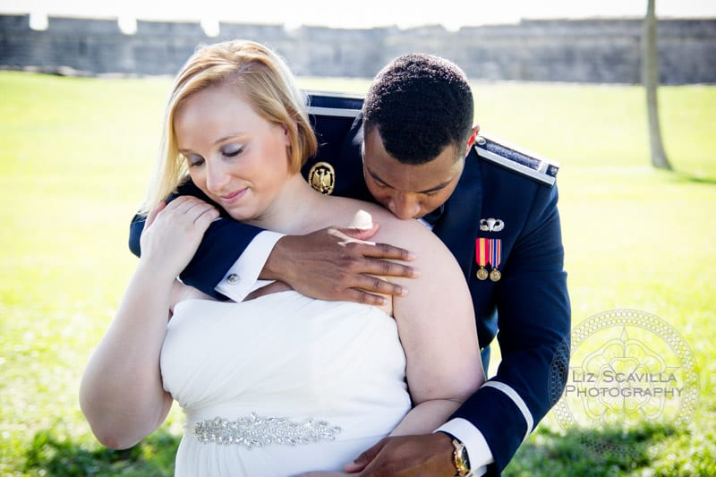 Couple in front of Fort in St. Augustine