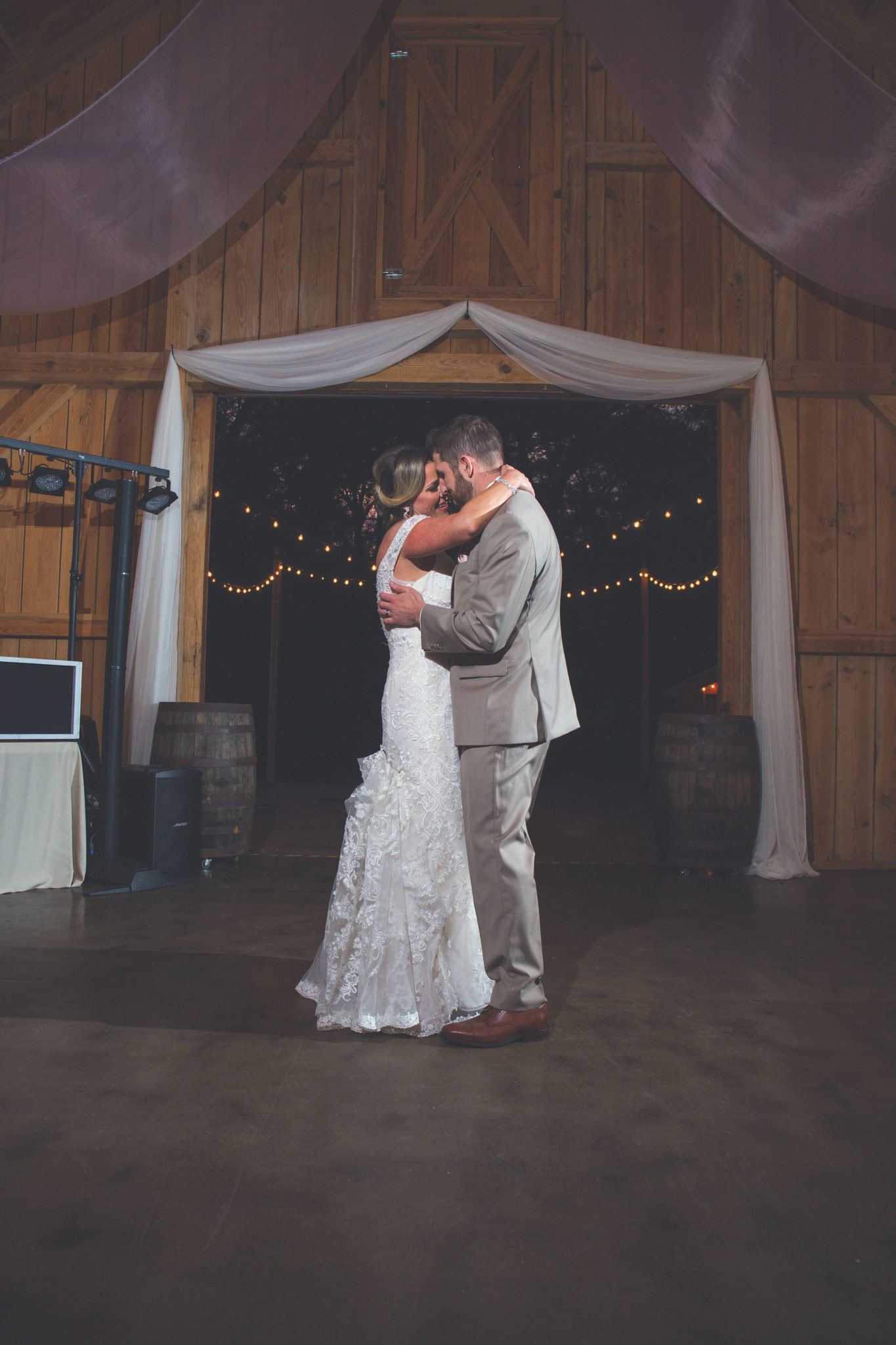 The newlyweds' first dance.