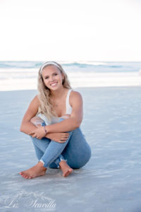 Sitting On The Beach - Senior Photos - Daytona Beach - Liz Scavilla Photography