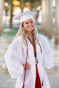 Cap & Gown - Beach Senior Photos - Daytona Beach - Liz Scavilla Photography
